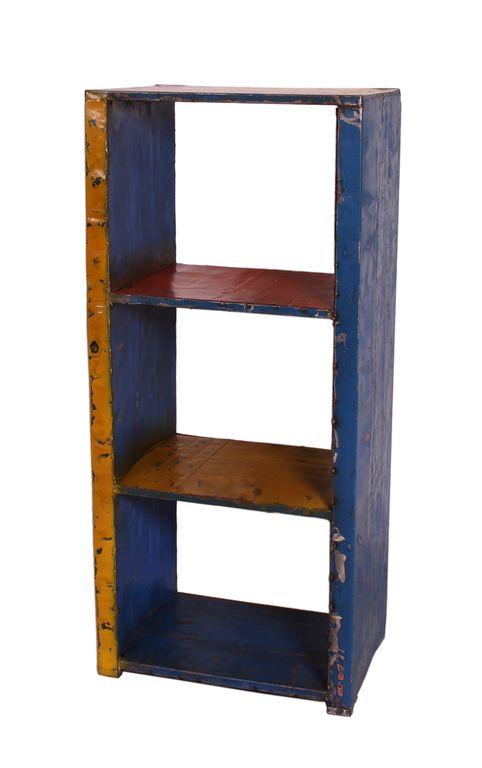 regal standregal wohnzimmer drumline 17998 gelb blau ebay. Black Bedroom Furniture Sets. Home Design Ideas
