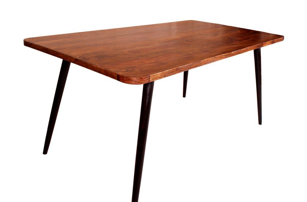 esstisch knob 18005 natur beine antikschwarz sch ner. Black Bedroom Furniture Sets. Home Design Ideas