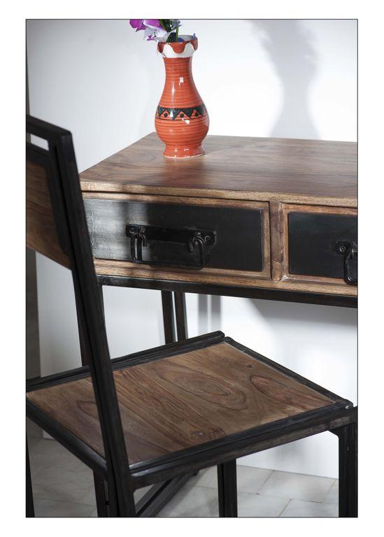 stuhl panama 18094 natur mit antikschwarz sch ner wohnen st hle. Black Bedroom Furniture Sets. Home Design Ideas