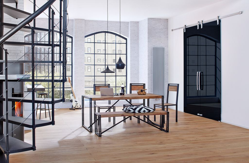tisch panama 18098 natur mit antikschwarz sch ner wohnen. Black Bedroom Furniture Sets. Home Design Ideas