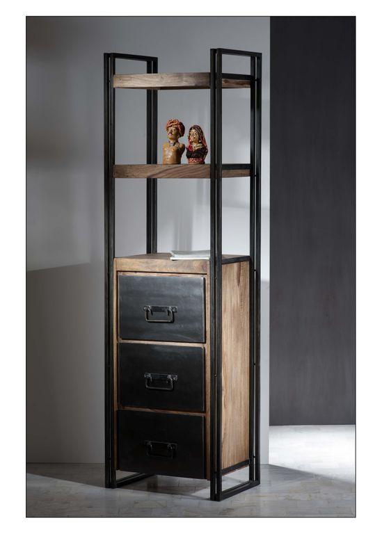 regal panama 18126 natur mit antikschwarz sch ner wohnen. Black Bedroom Furniture Sets. Home Design Ideas