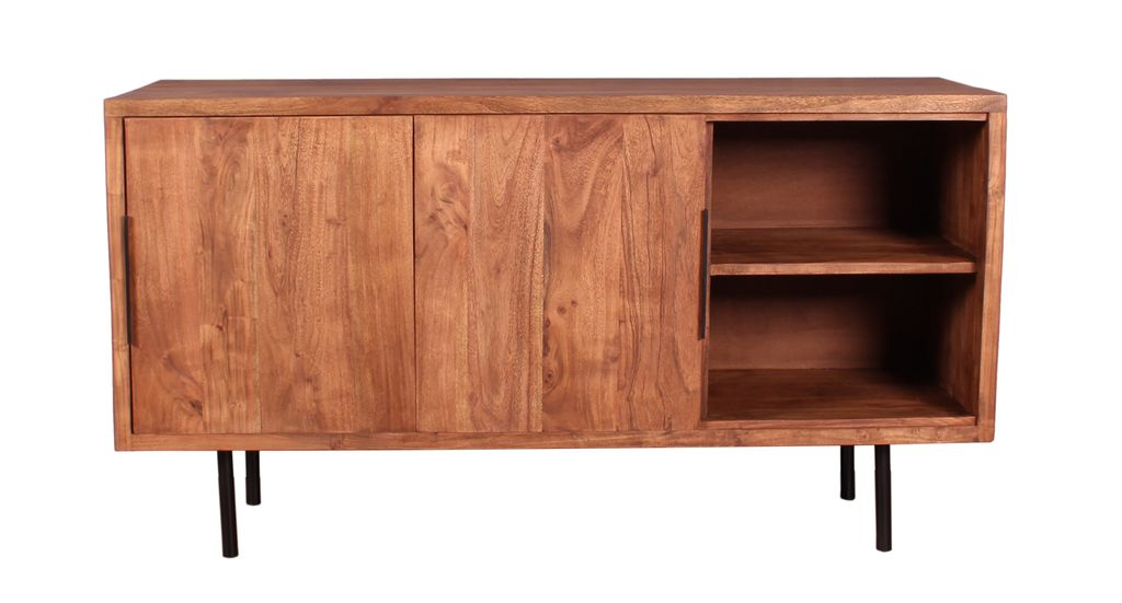 sideboard mid century 18235 antikfinish schwarze beine sch ner wohnen sideboards highboards. Black Bedroom Furniture Sets. Home Design Ideas