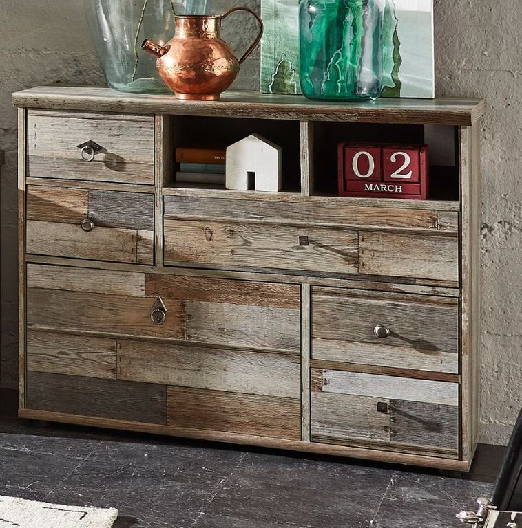 kommode rockwall driftwood nachbildung sch ner wohnen sideboards highboards sideboards. Black Bedroom Furniture Sets. Home Design Ideas