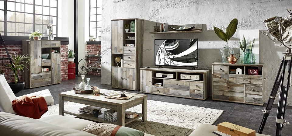 couchtisch rockwall driftwood nachbildung sch ner wohnen tische b nke couchtische. Black Bedroom Furniture Sets. Home Design Ideas