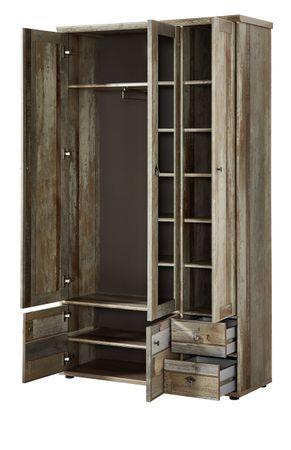 Garderobenschrank ROCKWALL Driftwood Nachbildung – Bild 2