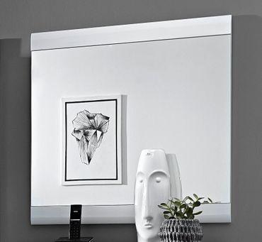 Spiegel HELSINGBORG Weiß / Silbereiche – Bild 1