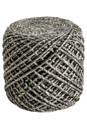 18884 Sitzhocker Sitzkissen Sitzsack Handgefertigt Taupe – Bild 1