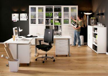 Prima Büroschrank 3 OH Weiß – Bild 7
