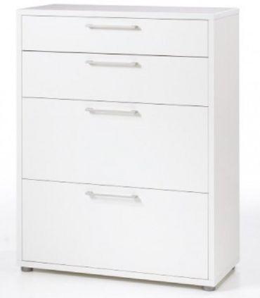 Prima Büroschrank 3 OH Weiß – Bild 1