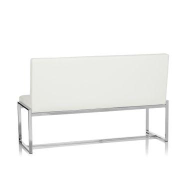 Sitzbank / Loungesofa 19455 Gestell Chrom Kunstleder 2,5-Sitzer Weiß – Bild 5