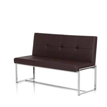 Sitzbank / Loungesofa 19456 Gestell Chrom Kunstleder 2,5-Sitzer Braun – Bild 8