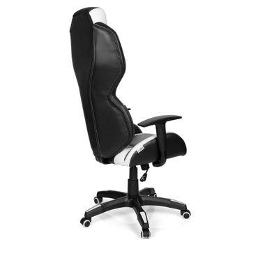 Gaming Stuhl / Bürostuhl 19484 schwraz / Weiß – Bild 3