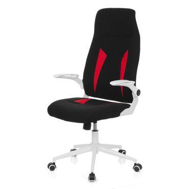 Gaming Stuhl / Bürostuhl 19563 Stoff Schwarz / Rot – Bild 8