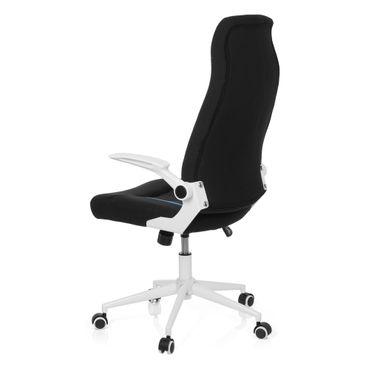 Gaming Stuhl / Bürostuhl 19564 Stoff Schwarz / Blau – Bild 6