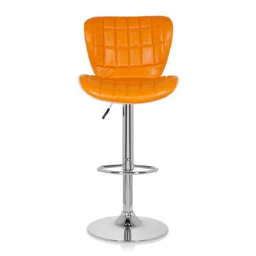 Barhocker / Tresenhocker 19593 Stoff (2er Pack / 2 Hocker) Orange – Bild 9