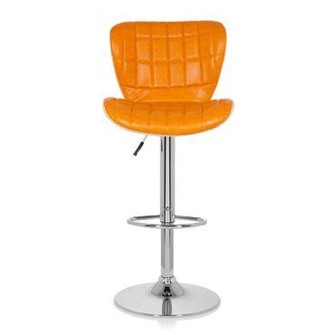 Barhocker / Tresenhocker 19593 Stoff (2er Pack / 2 Hocker) Orange – Bild 9