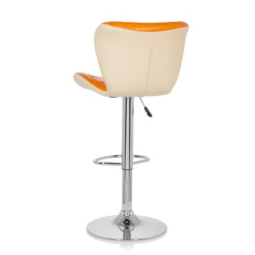 Barhocker / Tresenhocker 19593 Stoff (2er Pack / 2 Hocker) Orange – Bild 5