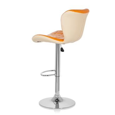 Barhocker / Tresenhocker 19593 Stoff (2er Pack / 2 Hocker) Orange – Bild 6