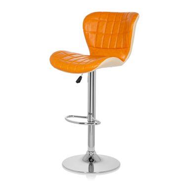Barhocker / Tresenhocker 19593 Stoff (2er Pack / 2 Hocker) Orange – Bild 8
