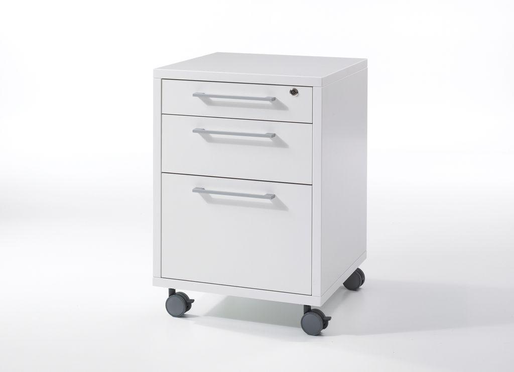 Prima Winkelkombination mit Rollcontainer 230 x 200 cm Weiß