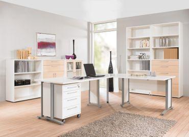Prima Winkelkombination mit Rollcontainer 200 x 230 cm Weiß – Bild 12