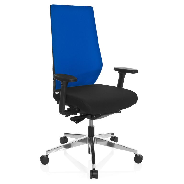 b rostuhl drehstuhl 20287 stoff schwarz blau b ro. Black Bedroom Furniture Sets. Home Design Ideas