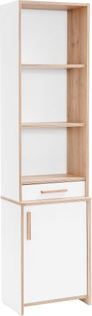Cilek DYNAMIC Regal Standregal Bücherregal Kinderregal Weiß / Holz – Bild 2