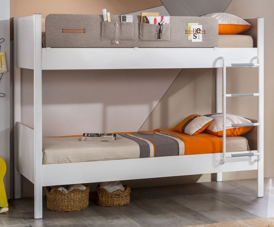 cilek dynamic etagenbett hochbett stockbett 100x190 cm wei holz ebay. Black Bedroom Furniture Sets. Home Design Ideas