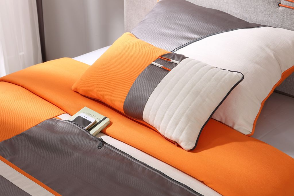 cilek dynamic tagesdecke bettbezug 90 100 cm grau orange. Black Bedroom Furniture Sets. Home Design Ideas