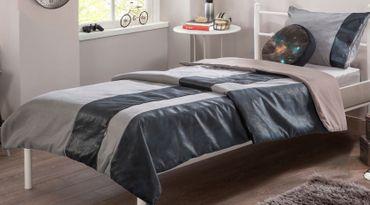 Cilek DARK METAL Tagesdecke Bettbezug 100-120 cm Grau / Schwarz – Bild 1