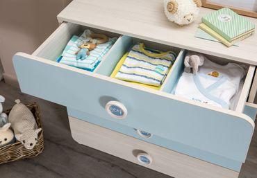 Cilek BABY BOY Kommode Sideboard Anrichte Kinderkommode Babyzimmer Blau / Holz – Bild 3