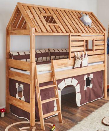 Spielbett Tom´s Hütte 20597 Stoffset Burg – Bild 1