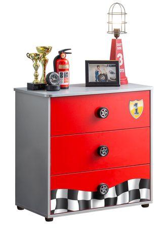 Cilek RACECUP Kommode Sideboard Anrichte Kinderkommode Rot / Grau – Bild 3