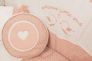 Cilek ROMANTIC BABY 7-tlg. Baby Set L Babydecke Kissen Gitterschutz – Bild 4