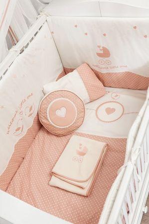 Cilek ROMANTIC BABY 7-tlg. Baby Set L Babydecke Kissen Gitterschutz – Bild 3