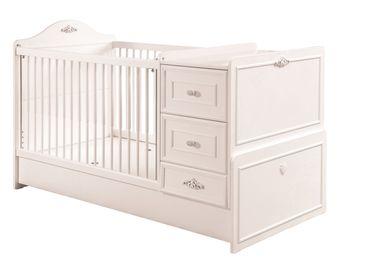 Cilek ROMANTIC BABY Babybett L mitwachsend inkl. Zubehör Kinderbett Weiß – Bild 3