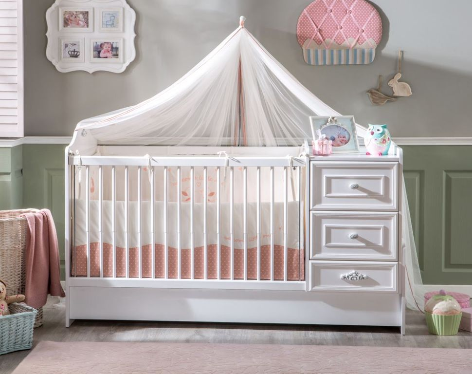 cilek romantic baby 5 babyzimmer kinderzimmer set. Black Bedroom Furniture Sets. Home Design Ideas