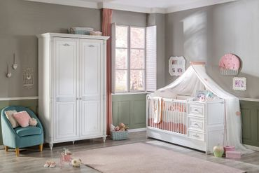 Cilek ROMANTIC BABY 5 Babyzimmer Kinderzimmer Set Komplettset Spielzimmer Weiß – Bild 1