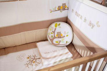 Cilek NATURA BABY Babybett L mitwachsend mit Zubehör Kinderbett  Weiß / Natur – Bild 7