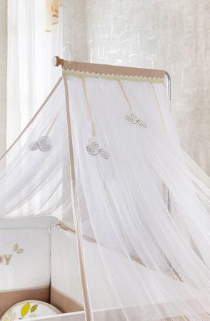 Cilek NATURA BABY Babybett L mitwachsend mit Zubehör Kinderbett  Weiß / Natur – Bild 8