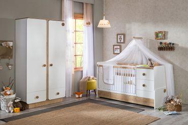 Cilek NATURA BABY 6 Kinderzimmer Set Babyzimmer Kinder Komplettset Weiß / Natur – Bild 1