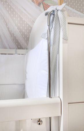 Cilek BABY COTTON Babybett L mit Zubehör mitwachsend Kinderbett Bett Weiß – Bild 5