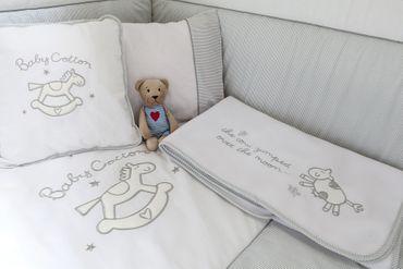 Cilek BABY COTTON Babybett L mit Zubehör mitwachsend Kinderbett Bett Weiß – Bild 8
