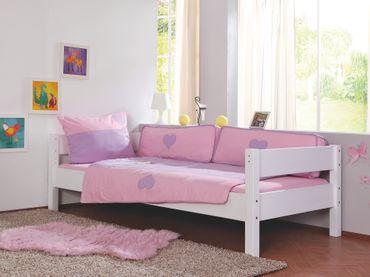 Bettwäsche Set 20756 Lila/Rosa-Herz