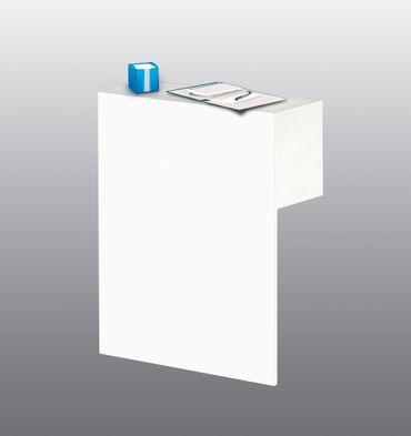 FORM 5 Sichtschutz mit Thekenfunktion Weiß – Bild 2