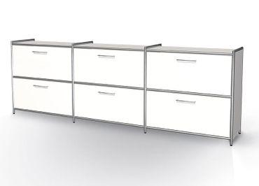 ARTLINE Sideboard 2 OH Weiß