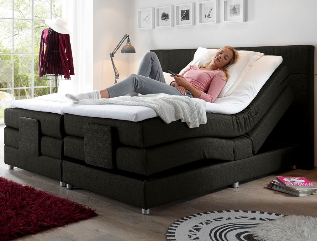 manolo boxspringbett mit motor 180x200cm elektrisch. Black Bedroom Furniture Sets. Home Design Ideas