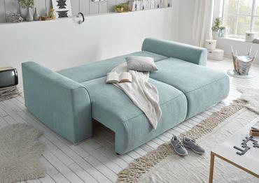 LAZY Sofa 250x87x129 cm Blau – Bild 4