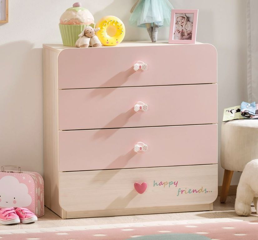 cilek baby girl kommode sideboard anrichte kinderkommode. Black Bedroom Furniture Sets. Home Design Ideas