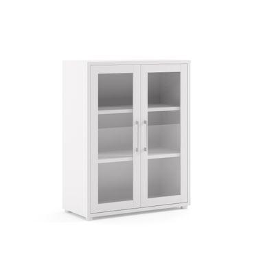 Prima Aktenschrank mit Glastüren 3 OH Weiß – Bild 1